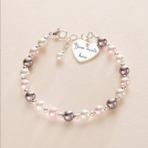 Engraved Heart, Remembrance Bracelet